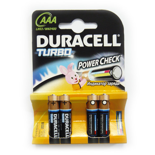 Элемент питания Duracell TurboMax LR03 BL4 (4/40/120)