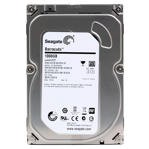 Жесткий диск 1Tb SEAGATE Barracuda ST1000DM003 (7200.12, 64Mb, SATA3 6Gb/s)